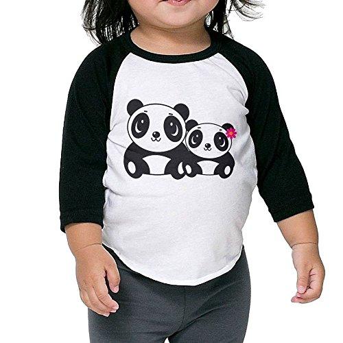 XHX Muzzy Panda Unisex Boys&Girls 3/4 Sleeve Raglan T Shirt Tee