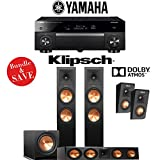 Klipsch RP-280F 3.1.2-Ch Reference Premiere Dolby Atmos Home Theater Speaker System with Yamaha AVENTAGE RX-A1080 7.2-Channel 4K Network A/V Receiver