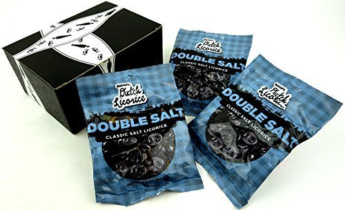 (Gustaf's Classic Double Salt Dutch Licorice, 5.2 oz Bags in a BlackTie Box (Pack of)