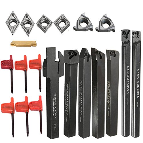 ng Tool Holder Boring Bar + 7pcs DCMT/CCMT Carbide Inserts Blade For Home Tool ()