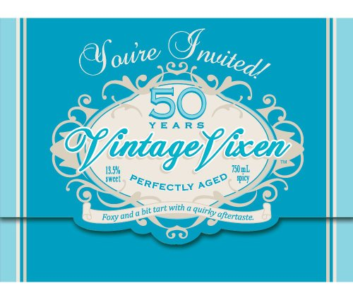Creative Converting Vintage Vixen 8 Count 50th Birthday Party Invitations ()