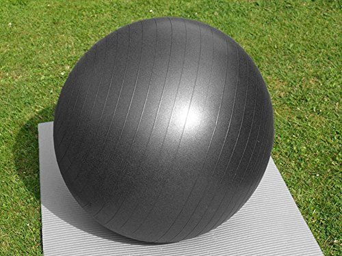 PROMIC Professional Grade Static Strength Exercise Stability Balance Ball with Foot Pump,65cm,Black by PROMIC (Image #7)
