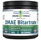 Amazing Nutrition Amazing Formula DMAE Bitartrate Dietary Supplement- 100 grams jar (approx. 286 Servings) - Promotes Athletic Performance - Assists with Post-Workout Recovery - Supports Brain Health