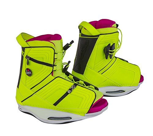 RONIX Halo Wakeboard Bindings - Highlighter - 6-8.5 by Ronix