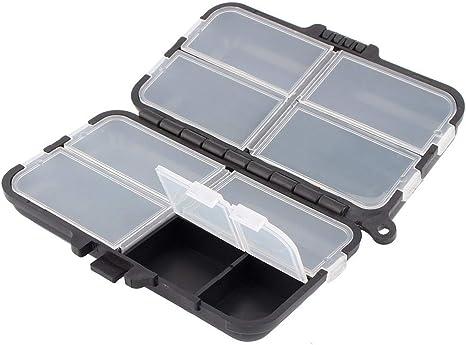 Mini Caja de Cebo de Pesca, Caja de Caja de Almacenamiento de Pesca Impermeable Gadget de Pesca al Aire Libre: Amazon.es: Deportes y aire libre