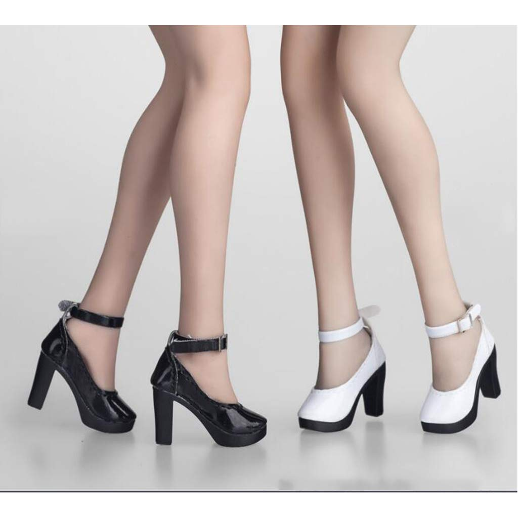 1//6 Female Leather High Heel Shoes for 12inch Phicen Kumik CG CY Hot Toys