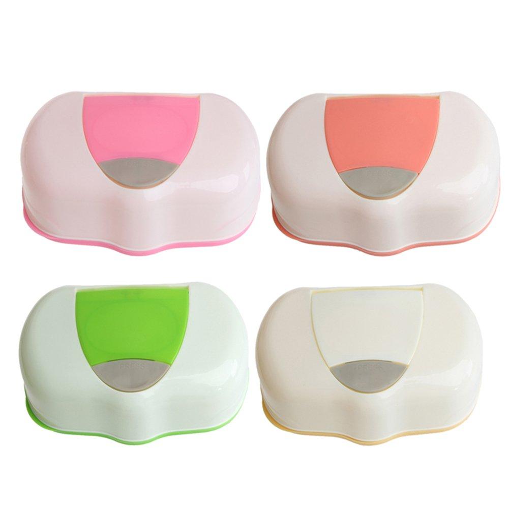 couleur al/éatoire Uminilife Bo/îte /à lingettes r/éutilisables pour b/éb/é en papier humide Bo/îte de rangement multifonction