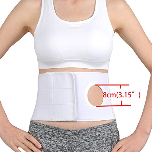 Medical Ostomy Belt Unisex Ostomy Hernia Support Belt Abdominal Binder Brace Abdomen Band Stoma Support for Colostomy Patients to Prevent Parastomal Hernia Stoma Opening-Size S
