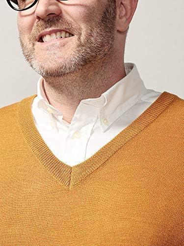 サカゼン B&T CLUB 大きいサイズ メンズ 静電気緩和 ウール混 Vネック セーター