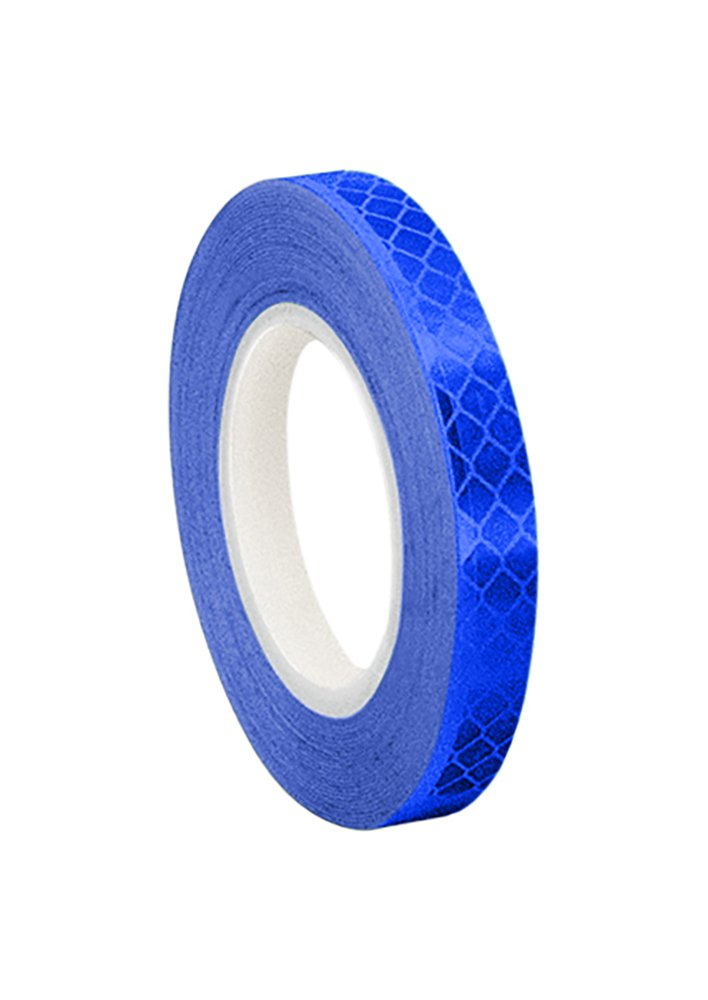 3M 3435 Blue Micro Prismatic Sheeting Reflective Tape, 3.2mm x 4.6m (1 Roll) TapeCase 0.125-5-3435