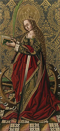 [The Polyster Canvas Of Oil Painting 'Ximenez Miguel Santa Catalina 1475 85 ' ,size: 18 X 39 Inch / 46 X 99 Cm ,this Best Price Art Decorative Prints On Canvas Is Fit For Foyer Artwork And Home Decor And] (Kangaroo Costume Rental)