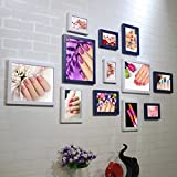 ZGP Home@Wall photo frame Nail Shop Photo Wall Beauty Salon Nail Cosmetics Shop Decorative Painting Frame Wall Wall Combination Paintings (Color : C)