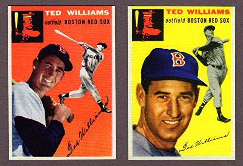 Ted Williams 1954 Topps #1 and #250 Baseball Reprints with Original Backs (Boston)