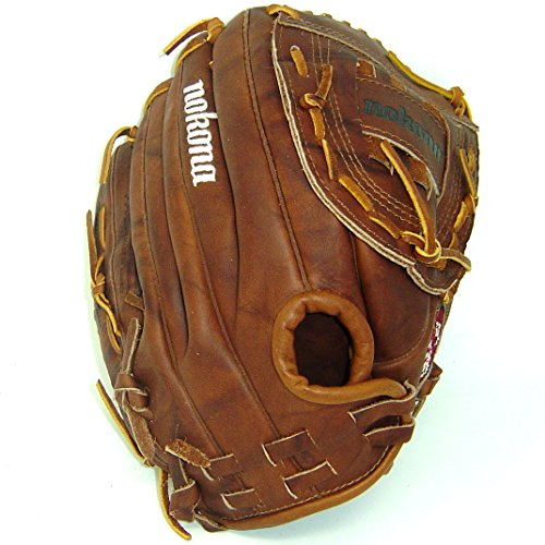 Nokona AMG175-W-CW 12-Inch Closed Web Walnut Leather Baseball Glove (Right-Handed (Web Infielders Right Handed Throw)