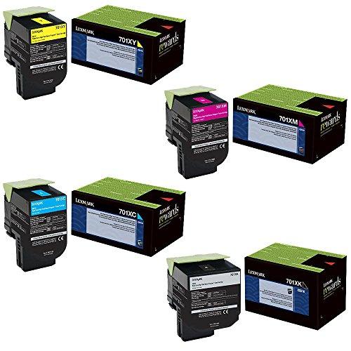 Lexmark 70C1XC0, 70C1XK0, 70C1XM0, 70C1XY0 Extra High Yie...
