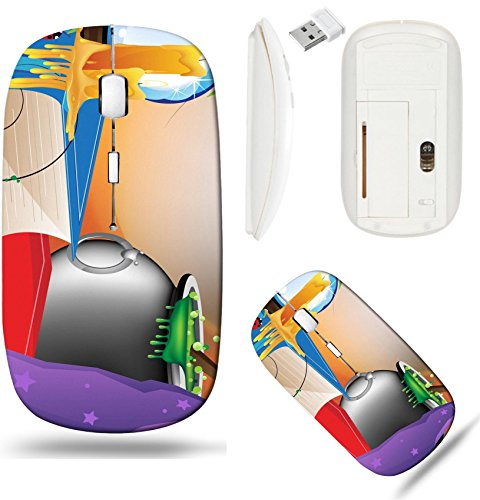 - Liili Wireless Mouse White Base Travel 2.4G Wireless Mice with USB Receiver, Click with 1000 DPI for notebook, pc, laptop, computer, mac book Witch hat crystal sphere lit candles boiling cauldron