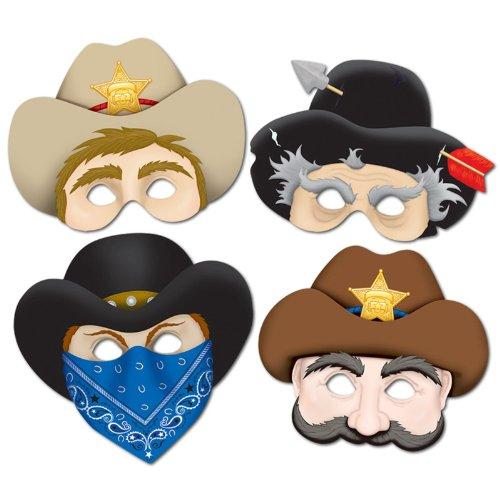 Western Masks (4/Pkg) (The Western Costume Company)