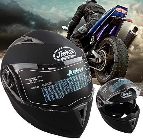 Klapp-Up Doppelscheiben-Motorradhelm klappbarer Motorrad-Helm mattschwarz, XXL Integralhelm Bel/üftung mit Sonnenschutz geringer Windger/äusche Roller