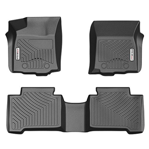 YITAMOTOR Floor Mats for 2016-2017 Toyota Tacoma Double Cab with Automatic Transmission, 1st & 2nd Row Toyota Floor Liners (NO Manual Transmission, No Access Cab)