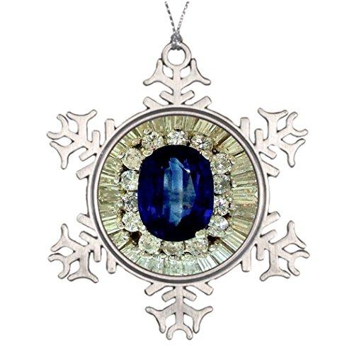 [Large Christmas Tree Snowflake Ornaments Sapphire Diamonds Vintage Costume Jewelry Brooch Best Christmas Tree] (Vintage Costume Jewelry Images)