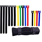 Ceeyali Reusable Fastening Cable Ties Cable Straps for Wires Organization Wire Management Pack of 70