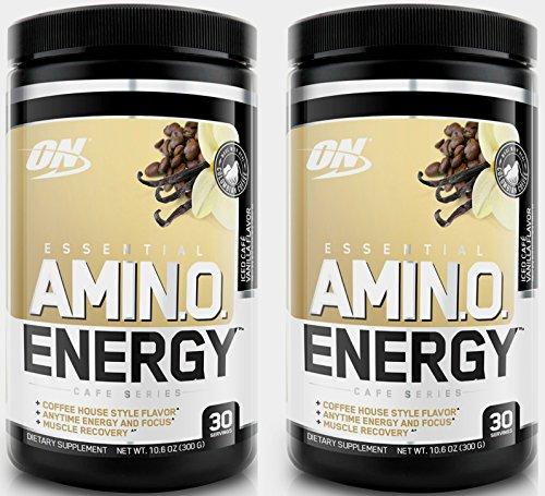 Optimum Nutrition Amino Energy Powder 30Sx2 Units (Iced Cafe Vanila)