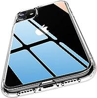 Humixx【2020最新版】iPhone 11 ケース 高透明 ストラップホール付き 9H強化ガラス背面+TPUバンパー 日本旭硝子製 滑り止め 黄変防止 レンズ保護
