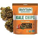 Rhythm Superfoods Kale Chips, Zesty Nacho, Organic and Non-GMO, 2 Oz (Pack of 4), Vegan/Gluten-Free Superfood Snacks