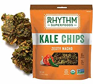 Rhythm Superfoods Kale Chips, Zesty Nacho, 2 Ounce, 4 Count