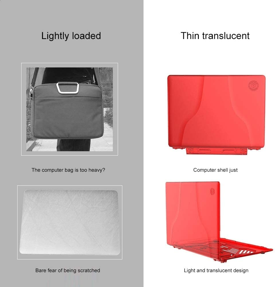 Color : Red Split Waterproof PC Crystal Laptop Protective Case for Huawei MateBook X Pro with Stand /& Handle
