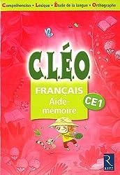 Français C.L.E.O. CE1 aide-mémoire : Pack de 6