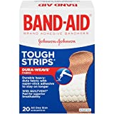 Band-Aid Brand Adhesive Bandages Tough-Strips, 20 Count