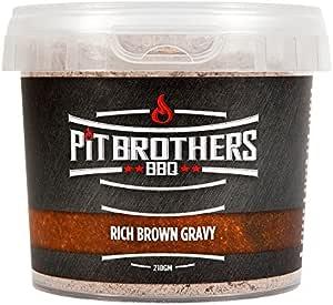 Pit Brothers BBQ Rich Brown Gravy – Food Seasoning – Gourmet Powder Gravy Mix – 210g (7.4 oz) Pack
