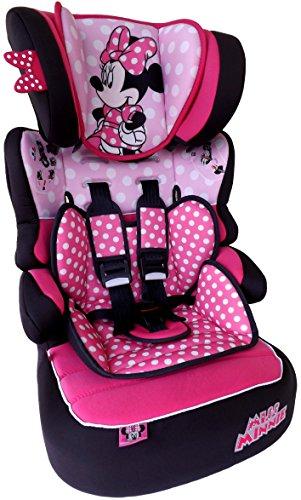 MISS MINNIE Dots Disney Beline LX Kindersitz KINDER AUTOSITZ BABY SITZ GRUPPE 1/2/3 9-36kg+GRATIS STICKER