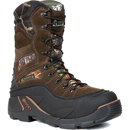 (Rocky Men's Blizzard Stalker Pro Hunting Boot,Brown/Mossy Oak,11 M US)