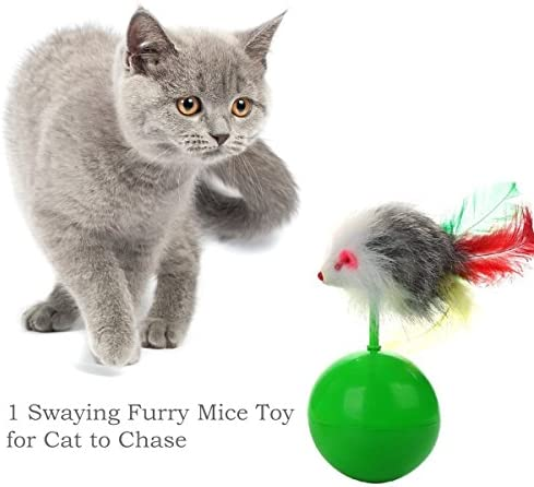 upsimples Cat Toys Including Cat Teaser Wand Interactive Feather Toy Fluffy Mouse Mylar Crinkle Balls Catnip Pillow for Kitten Kitty 7