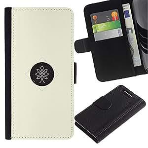 Paccase / Billetera de Cuero Caso del tirón Titular de la tarjeta Carcasa Funda para - dot tree - Sony Xperia Z1 Compact D5503