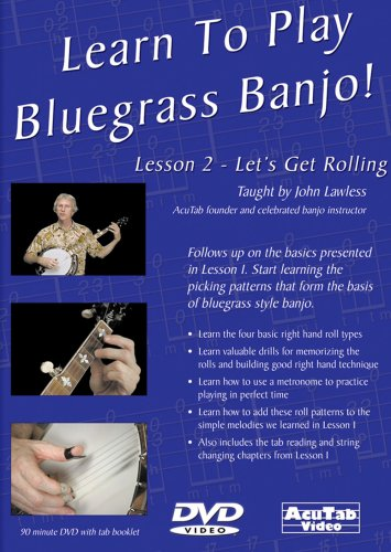 Learn to Play Bluegrass Banjo, Lesson 2, Let's Get Rolling (Bluegrass Banjo 1 Dvd)