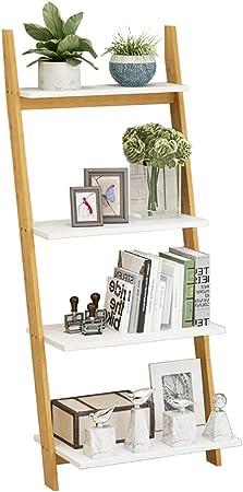 ZXY Bambú Natural Escalera Estante para Libros, Espesado Estante Abierto Estrecha Estantes de Madera Abiertos Organizador de Almacenamiento Multiusos para hogar u Oficina-D 51x30x118cm(20x12x46inch): Amazon.es: Hogar