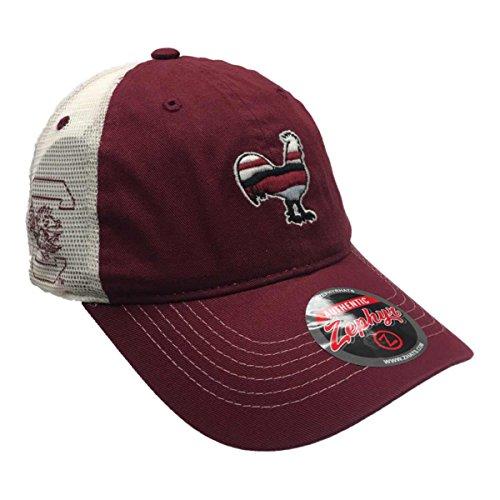 South Carolina Gamecocks Zephyr Garnet Rooster Silhouette Mesh Snapback Hat Cap ()