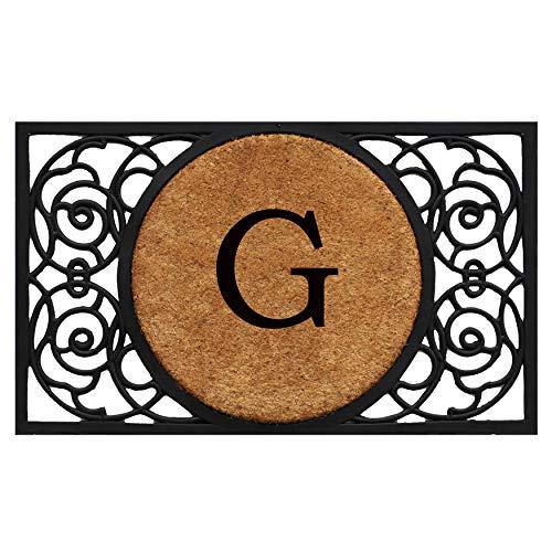 Calloway Mills 180031830G Armada Circle Monogram Doormat, 18 x 30 Letter G