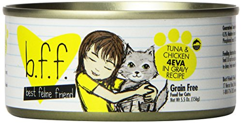 Best Feline Friend Cat Food, Tuna & Chicken 4Eva Recipe, 5.5 Ounce Cans (Pack of 8) by Weruva