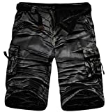 Generic Mens Baggy Cotton Rugged Multi Pockets Cargo Short 11colors Black White 31