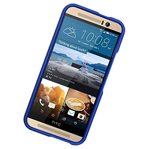 Zizo HTC One M9 Rubberized Cover - Retail Packaging - Blue