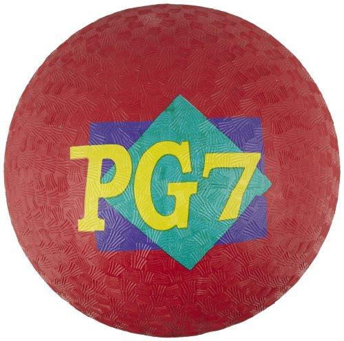 School Smart Playground Ball - 7 inch - Red