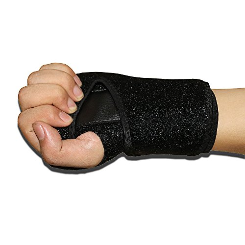 Wrist Support Brace with Removable splint for Computer Tennis Bike and Motorcycle,Wrist Strap for Carpal Tunnel Syndrome,Pain Sprains Tendonitis Arthritis Night One size fits most