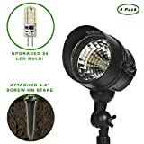 ETOPLIGHTING Oil Rubbed Black Finish Outdoor Landscape Ground Spot Light Patio, Garden, Path, Driveway APL1295, 4 Pack Review