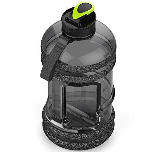 antigoccia senza BPA ideale per gym|dieting|bodybuilding|outdoor sports|hiking|office Addfun/® di alta qualit/à da 2.2/l grande borraccia sportiva con drink tappo e maniglia per il trasporto
