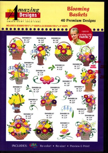 Amazing Designs Blooming Baskets Machine Embroidery Designs