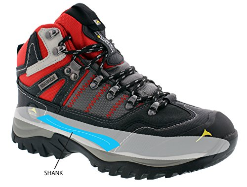 High Grey Boots Pacific Black Mountain 8 Cut Backpacking Waterproof Red Women's Hiking 5 Size Ascend q1Ygwp